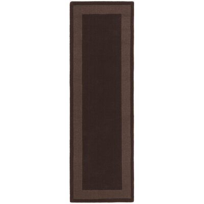 Transitions Chocolate Border Rug Rug Size: Runner 26 x 8