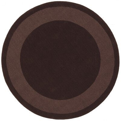 Transitions Chocolate Border Rug Rug Size: Round 6