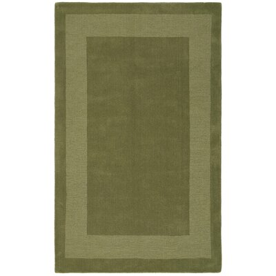 Transitions Moss Border Rug Rug Size: Rectangle 4 x 6