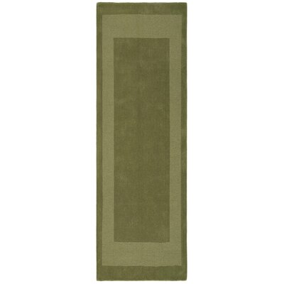 Transitions Moss Border Rug Rug Size: Runner 26 x 8