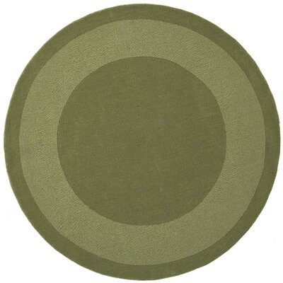 Transitions Moss Border Rug Rug Size: Round 6