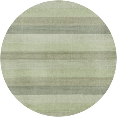 Aspect Green Stripes Area Rug Rug Size: Round 6
