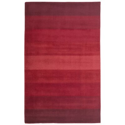 Degarmo Red Stripes Area Rug Rug Size: 4 x 6