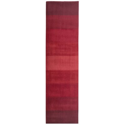 Degarmo Red Stripes Area Rug Rug Size: Runner 26 x 8