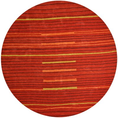 Structure Rust Rug Rug Size: Round 6