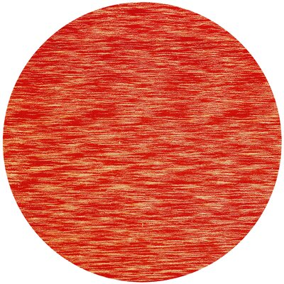 Fusion Brick Terracotta Area Rug Rug Size: Round 8