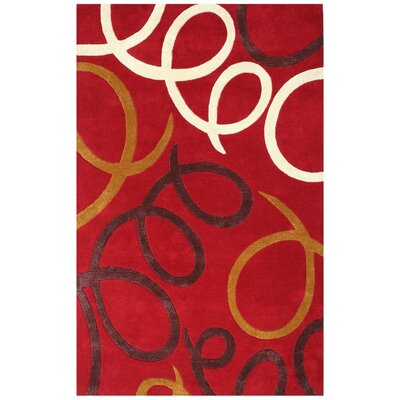 Structure Red Laurel Rug Rug Size: Rectangle 5 x 8