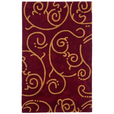 Structure Burgundy Archer Rug Rug Size: Rectangle 4 x 6
