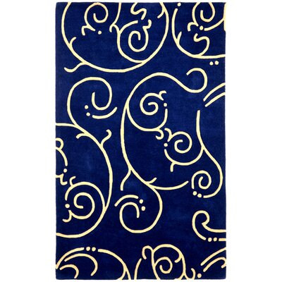 Structure Navy Archer Rug Rug Size: Rectangle 4 x 6