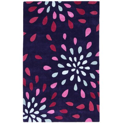 Structure Rain Purple Area Rug Rug Size: 5 x 8