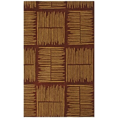Structure Thatch Burgundy Rug Rug Size: Rectangle 5 x 8