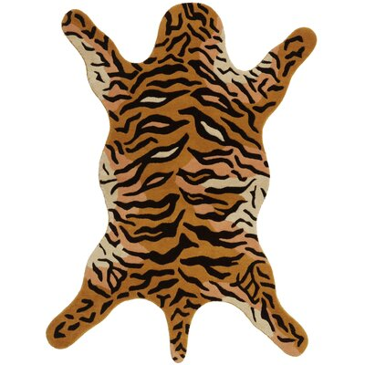 Safari Orange Tiger Area Rug Rug Size: 5 x 8