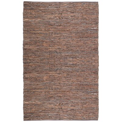 Sandford Chindi Hand Woven Cotton Brown Area Rug Rug Size: 26 x 42