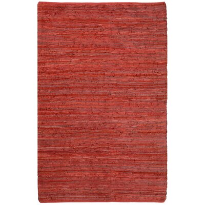 Matador Leather Chindi Red Rug Rug Size: 26 x 42