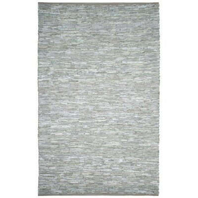 Matador Leather Chindi Grey Area Rug Rug Size: 26 x 42