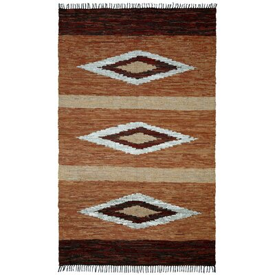 Matador Diamonds Leather Chindi Area Rug Rug Size: 26 x 42