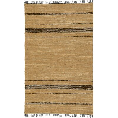 Matador Leather Chindi Black/Tan Area Rug Rug Size: 4 x 6