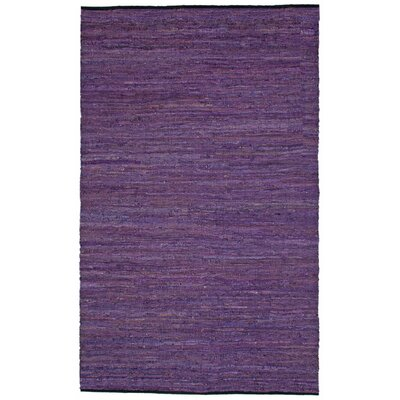 Sandford Chindi Hand Woven Cotton Purple Area Rug Rug Size: Rectangle 9 x 12