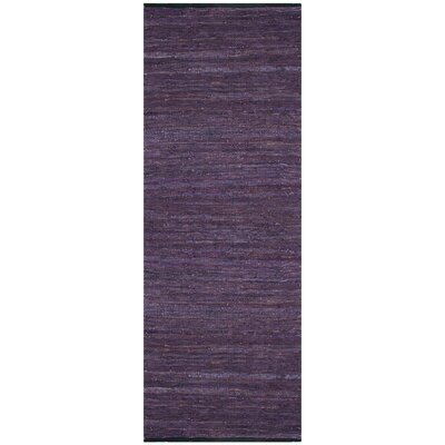Sandford Chindi Hand Woven Cotton Purple Area Rug Rug Size: 8 x 10