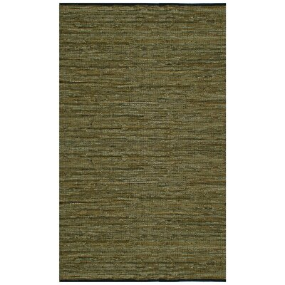Sandford Leather Chindi Green Rug Rug Size: 4 x 6