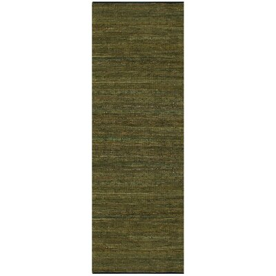 Matador Hand-Loomed Green Area Rug Rug Size: Rectangle 26 x 42