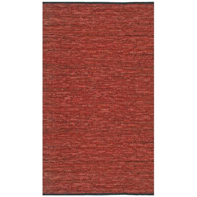Sandford Leather Chindi Copper Area Rug Rug Size: 4 x 6