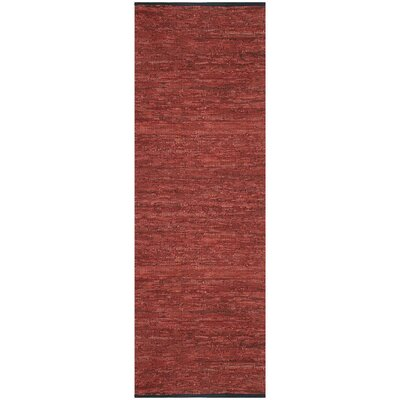 Sandford Leather Chindi Copper Area Rug Rug Size: Runner 26 x 12