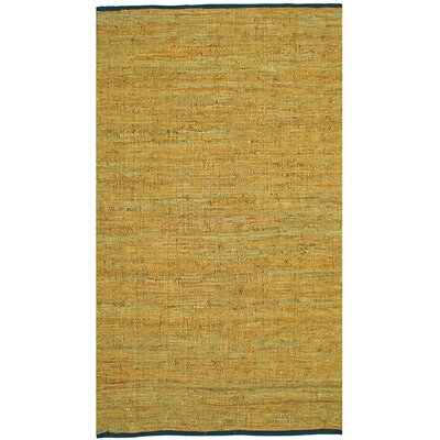 Sandford Leather Chindi Gold Area Rug Rug Size: Rectangle 9 x 12