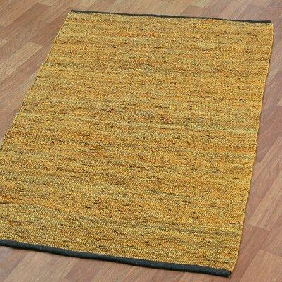 Matador Hand-Loomed Gold Area Rug Rug Size: 19 x 210