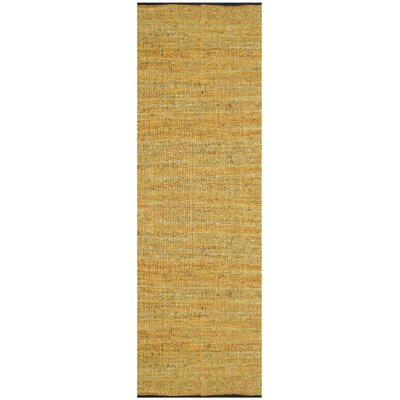 Sandford Leather Chindi Gold Area Rug Rug Size: Runner 26 x 12