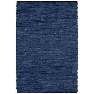 Matador Leather Chindi Blue Area Rug Rug Size: 9 x 12