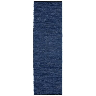 Matador Leather Chindi Blue Area Rug Rug Size: Runner 26 x 12