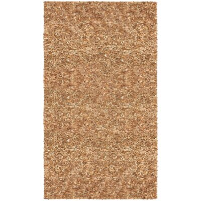 Pelle Leather Dark Brown Area Rug Rug Size: 4 x 6