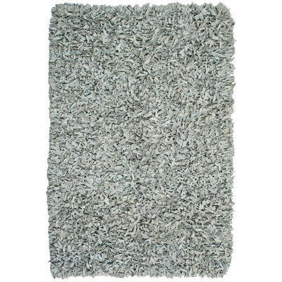 Pelle Leather Grey Area Rug Rug Size: 5 x 8