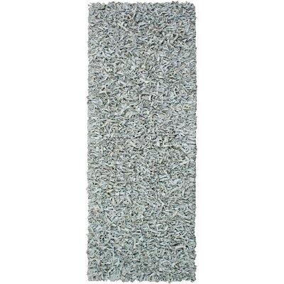 Pelle Leather Grey Area Rug Rug Size: Runner 26 x 8