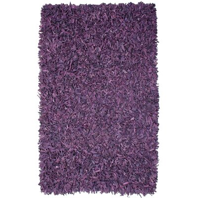 Pelle Leather Purple Area Rug Rug Size: 4 x 6