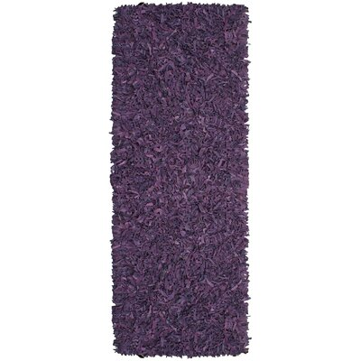 Baum Leather Purple Area Rug Rug Size: Runner 26 x 8