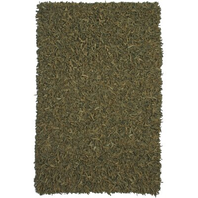 Pelle Leather Green Area Rug Rug Size: 4 x 6