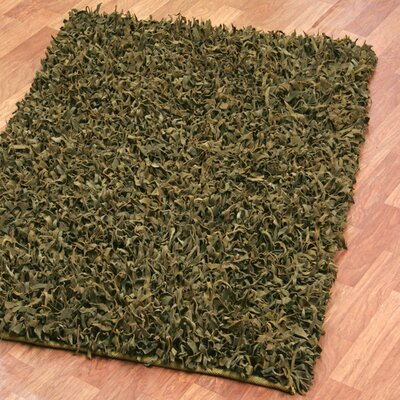 Baum Leather Green Area Rug Rug Size: Round 8'