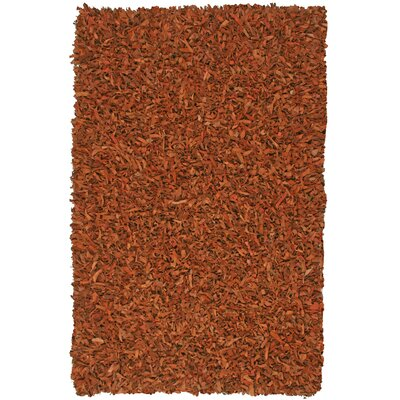 Pelle Leather Copper Area Rug Rug Size: 26 x 42