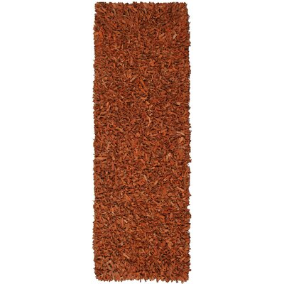 Baum Leather Copper Area Rug Rug Size: Runner 26 x 8