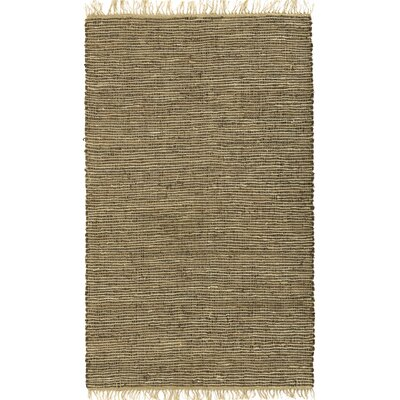 Matador Leather/Natural Hemp Brown Area Rug Rug Size: 26 x 42