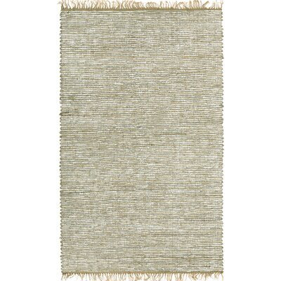 Matador White Leather/Natural Hemp Rug Rug Size: 9 x 12