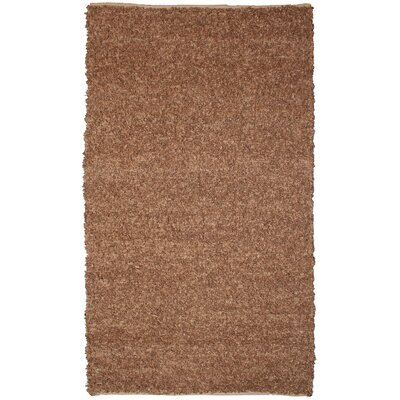 Baum Short Leather Tan Area Rug Rug Size: 5 x 8