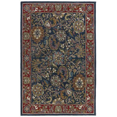 Traditions Kashan Navy Rug Rug Size: Rectangle 5 x 8