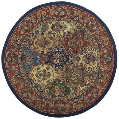 Traditions Baktarri Navy Multi Rug Rug Size: Round 8'