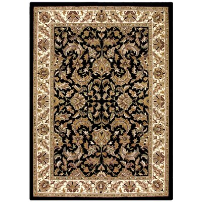 Traditions Isphan Black Rug Rug Size: Rectangle 8 x 11