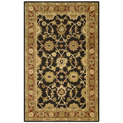 Traditions Kashan Black/Tan Rug Rug Size: 5 x 8