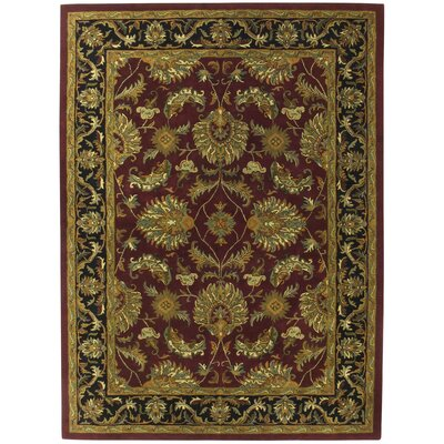Traditions Agra Burgundy Rug Rug Size: 5 x 8