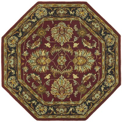 Traditions Agra Burgundy Rug Rug Size: Octagon 6